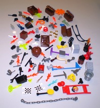 Used LEGO Minifig Accessories Frypan Pickaxe Camera Binocular Crate Chai... - $9.95