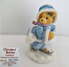 Enesco Cherished Teddies Candace Skating on Holiday Joy Figurine - $9.99