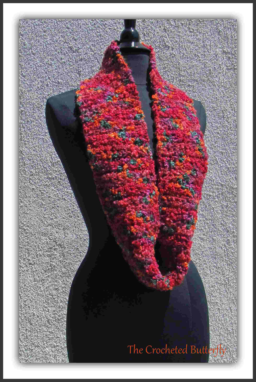 Boucle Delight Cowl, crochet cowl, women's fashion, infinity scarf, colorful