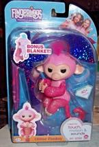 Fingerlings Glitter Monkey Rose w/ Bonus Blanket - $24.30
