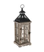 "Rustic Black & Gray Wood Lantern 17.5"" - $30.00"