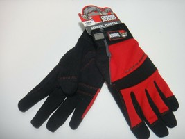 Grease Monkey General Purpose High Performance Gloves Color Red Black Si... - $25.19