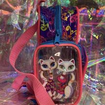 Lisa Frank Roxie Rollie Rare Both White Fur! Mini Backpack Earlier R+R Design image 3