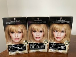 3x Schwarzkopf Color Ultime 8.0 Medium Blonde Prof Quality Permanent Hair Dye - $29.69
