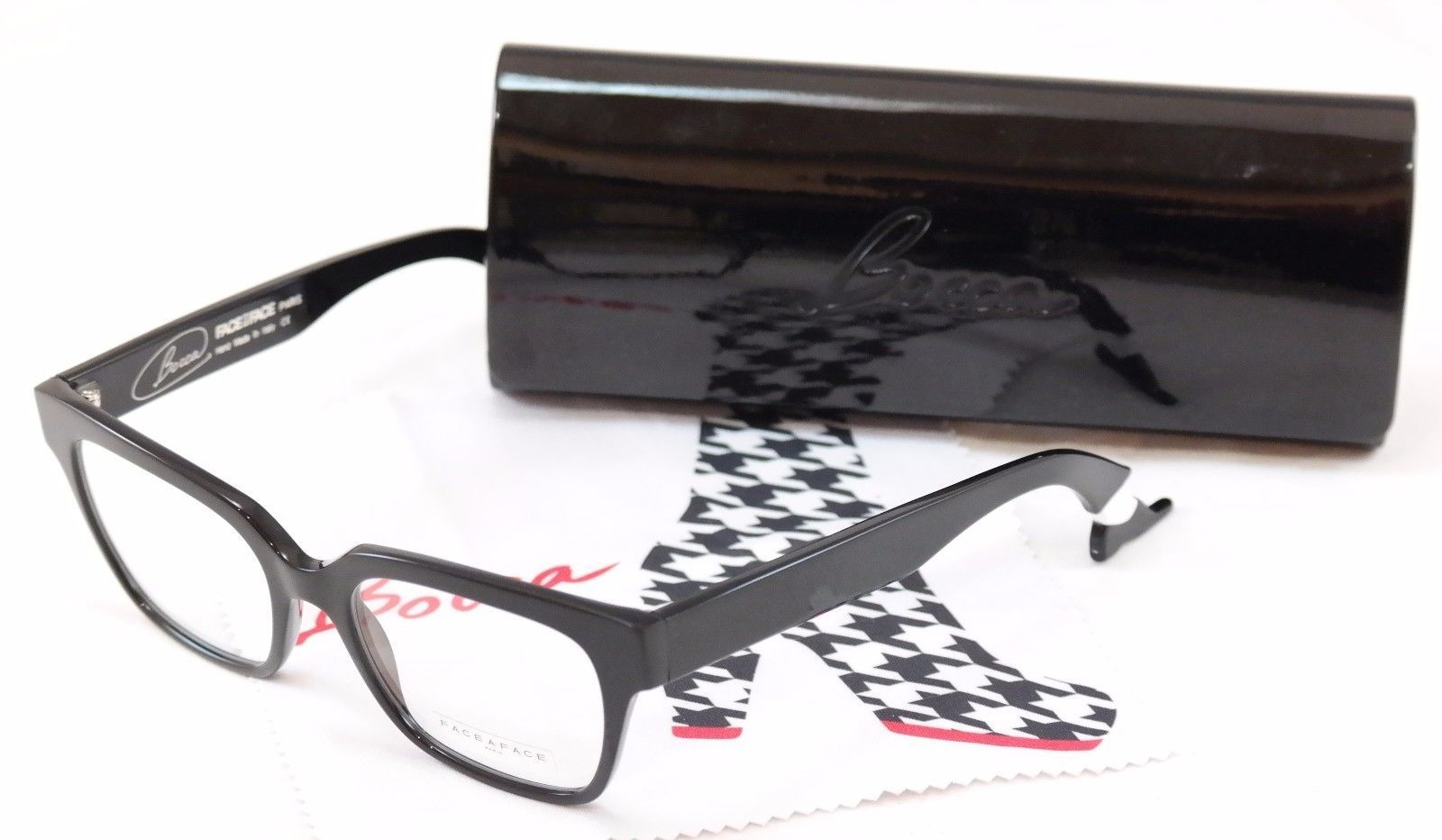 Authentic Face A Face Eyeglasses Frame Bocca Smoking 1 2002 Black Plastic Italy - $186.92