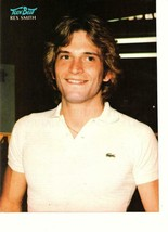 Rex Smith teen magazine pinup clipping polo shirt Teen Beat 1970's - $1.50