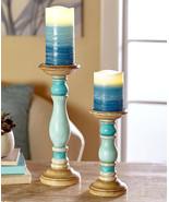 4-Pc. LED Pillar Candle & Holder Set Blue - $45.25