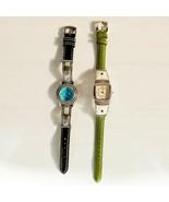 2 Vtg Southwest Ecclissi Sterling Silver Multi Stone Watches Bracelet - ... - $98.99