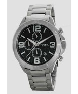 new FOSSIL BQ2182 Black Dial Stainless Steel CHRONOGRAPG Men's Watch - $103.46