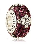 Alducchi Amethyst -Clear Swarovski Crystal 925 Silver European Charm Bead - $19.95