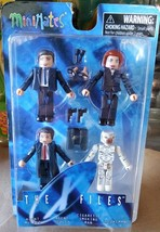 New Minimates The X-Files Agent Mulder Skully Cigarette Smoking Man 4Pac... - $18.45