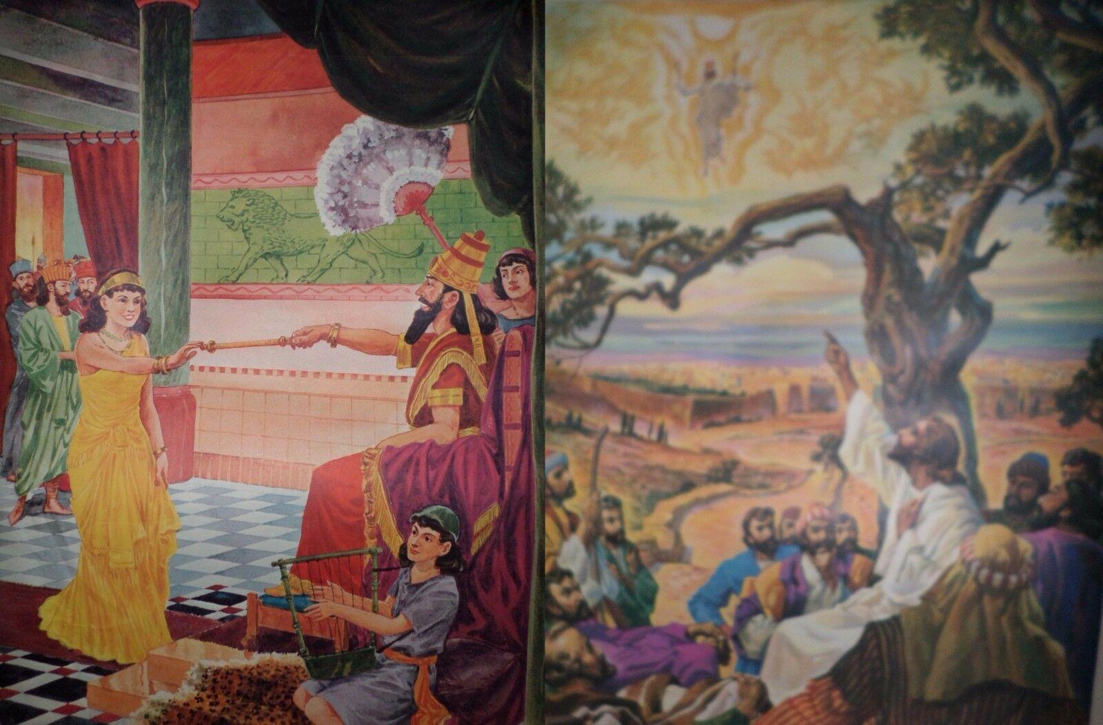 Vintage Religious Posters Church 50's 60's Jesus Bible Stories 18x24 15pcs  image 5