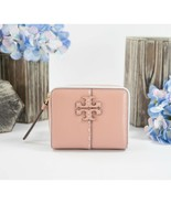 Tory Burch Perry Pink Moon Leather McGraw Bifold Zip Around Wallet NWT - $143.06
