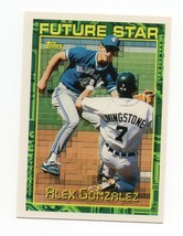 1994 Topps Future Star #67 Alex Gonzalez Rookie Card - $1.25