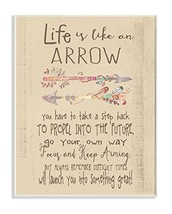 Stupell Home Décor Life is Like an Arrow' Icon Inspirational Typography ... - $35.69