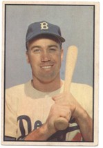 1953 Bowman Color #117 Duke Snider Dodgers VG/EX Very Good/Excellent  - $240.00