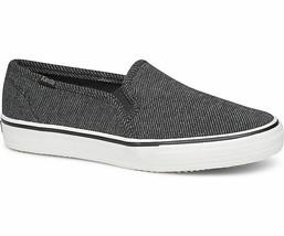Keds WF59053 Women's Shoes Double Decker Twill Stripe Jersey Charcoal, 8 Med - $39.55