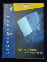 LED Light Wedge Flat Panel Book Reading Lamp Paperback Night For reading... - $5.71