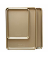 NEW Nordic Ware Gold Baking Sheets, Set of 3 FREE SHIPPING - $34.99