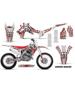 Dirt Bike Graphics Kit Decal Sticker Wrap For Honda CRF450R 2013-2016 WI... - $168.25