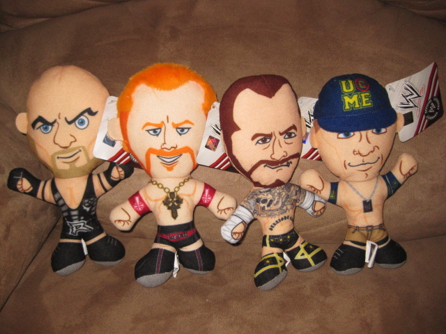 Primary image for WWE WRESTLER COMPLETE SET SHEAMUS JOHN CENA RYBACK CM PUNK New Licensed Plush 8""