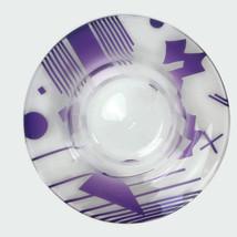 Contemporary Studio Glass Art Deco Carved Cameo Glass Bowl Amethyst Clea... - $275.83