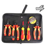 7pcs VDE Insulated Combination Pliers Set Withstand 1000V Voltage For Cr... - $78.40