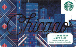 Starbucks 2017 Chicago, Illinois Collectible Gift Card New No Value - $3.99