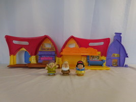 Fisher Price Little People Disney Snow White Dwarfs & Musical Cottage (2... - $21.80