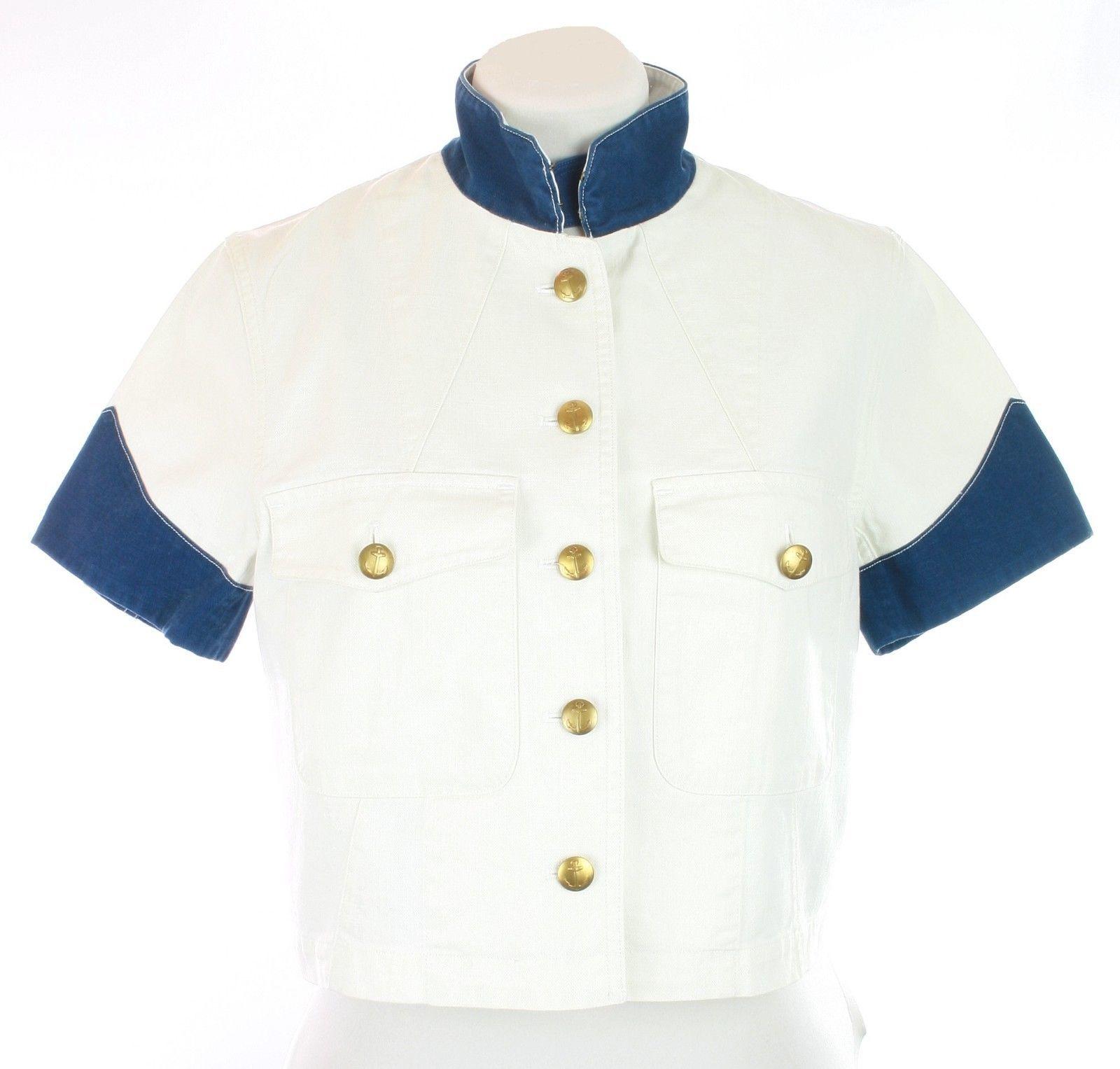 "Ralph Lauren Womens Ladies ""Harmon"" Cream Blazer Jacket UK 8 - 10 RRP £330.00 - $165.90"