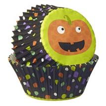 Wilton 225 Halloween Baking Cups Pumpkin Dots Jack-O-Lantern Paper - $9.00