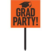 """Gradutaion 14 1/2"""" x 15 1/2"""" Orange Paper Yard Sign, Case of 6 - $53.28 CAD"""
