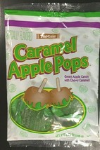 NEW SEALED Tootsie Caramel Green Apple Pops 3.75 fl oz/ 106g bag (6 Lollipops) image 1