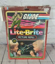 Lite Brite Picture Refill Pack GI Joe 1984 Set 12 Pictures W/24 Guide Sheet 5477 - $13.85