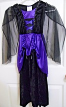 Dress Up Costume Girl Size Small Purple Black Sequins Midnight Witch Got... - £4.47 GBP