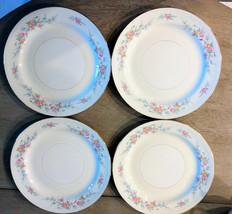 """(4) Homer Laughlin Eggshell Nautilus """"Ferndale"""" 9 7/8""""  Dinner Plates - Ex  - $23.70"""