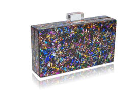 Milanblocks Colorful Confetti Acrylic Box Clutch image 3