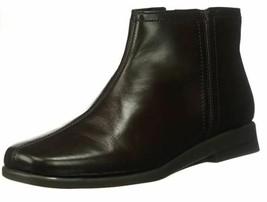 $100 Aerosoles Leather Black Booties Size 5.5 - $47.49
