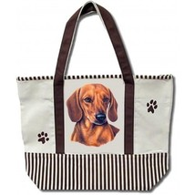 Dachshund  Dog Canvas Tote Bag Pet Shopping Purse Beach Diaper Puppy Travel - $29.58