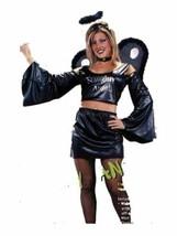 xaw262 Black NAUGHTY ANGEL Halloween Costume Medium 8/14 - £29.30 GBP
