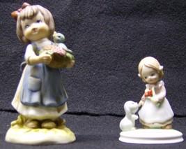 LEFTON CHINA PORCELAIN GIRL Figurines 02732 & 0... - $23.38