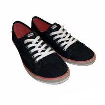Keds Women's Tennis Shoes Black White WF52268 Low Top Sneakers Canvas Si... - $17.99