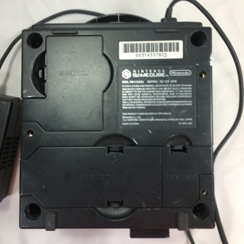 Nintendo GameCube Black Console Power Supply and Memory Card