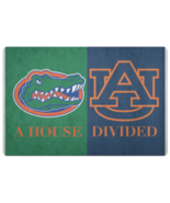 House Divided Man Cave NCAAFootball Welcome Florida Gators Auburn Tigers... - $29.58