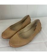 FRYE Tegan Ballet Flat Nubuck Leather Tan Brown Womens Size 6.5 - $39.57