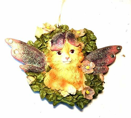 Kurt Adler Cat Angel Ornament 4 inches (Orange) - $17.33
