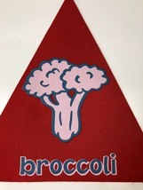Cranium Hullabaloo Childrens Game Red Broccoli Triangle Foot Mat Floor P... - $5.94