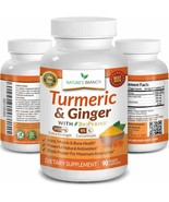 EXTRA STRENGTH TURMERIC CURCUMIN WITH GINGER & BIOPERINE - 1950MG JOINT ... - $25.19