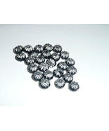 Czech Pressed Glass Crullers Beads - Black & Silver Finish 09x06mm - $8.79