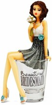 Beautiful Bridesmaids Series~ Girl In The Glass ~ Shot Glass With Figurine - $22.77